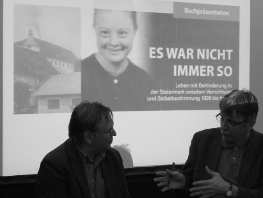 Christian Ehetreiber im Gespraech mit Leopold Neuhold