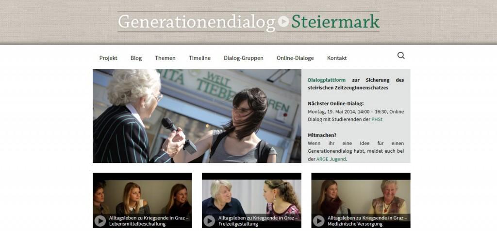 Generationendialog Steiermark – virtuelles Archiv und Dialogplattform