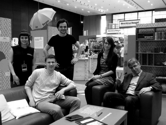 Unser Messeteam kurz vor dem Ende der Grazer Fruehjahrsmesse 2014