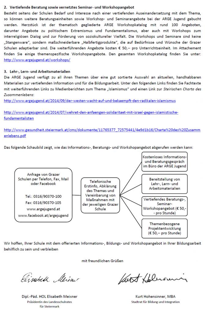 Brief Hohensinner Seite 2