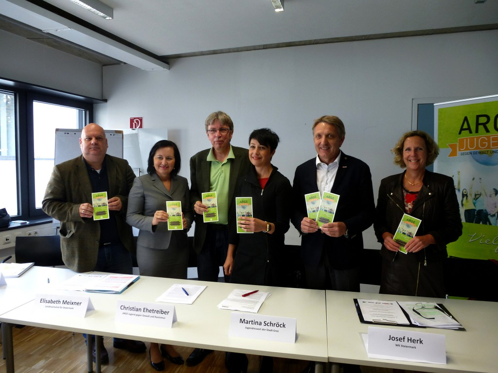 Die Projektpartner V.l.n.r.: Christian Scharinger, Elisabeth, Meixner, Christian Ehetreiber, Martina Schroeck, Josef Herk, Ursula Strohmayer