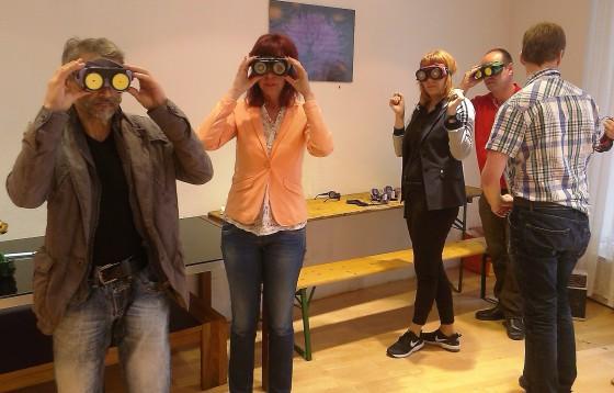 """Blindenparcours beim Workshop """"SelbstBestimmt Leben"""""""