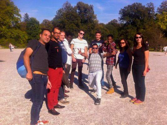 Gruppenfoto im Freien